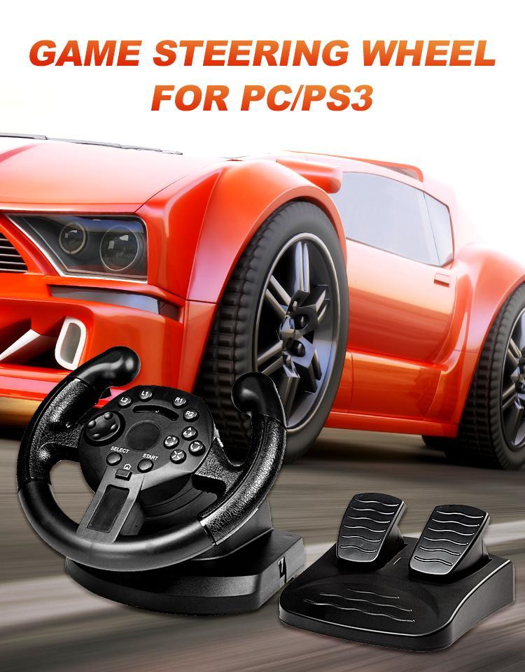 DATA FROG 레이싱 스티어링 휠 PS3 게임 스티어링 휠 PC 진동 조이스틱 리모컨 휠 드라이브 PC