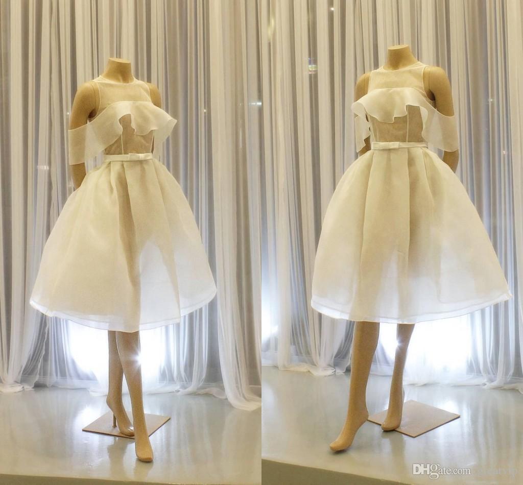 Fada Curto Prom Vestidos Jewel manga curta na altura do joelho Ocasião Pouco vestidos de noite Cooktail vestido de festa Especial vestido vestes de soirée