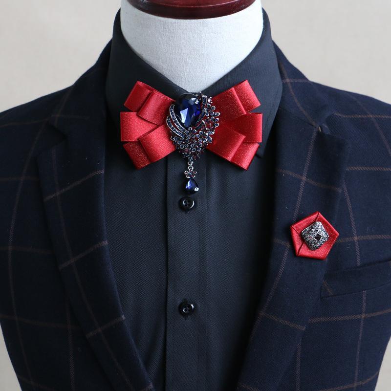 2020 Double Affaires Ruban Collier Noeud papillon pour hommes de mariage pour les femmes Bowties Adjustale Cravates