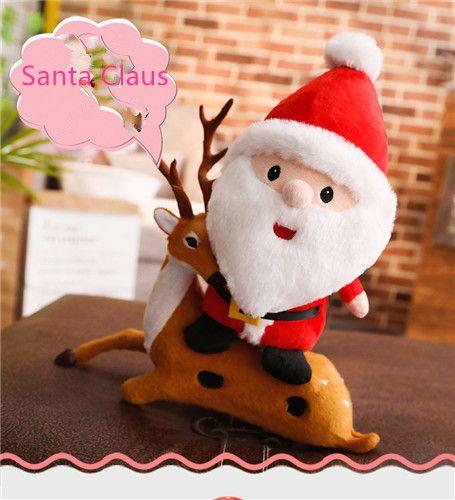 لطيف أفخم لعبة كبيرة سانتا، دمى، دمية lgirl هدية عيد الميلاد الإبداعية