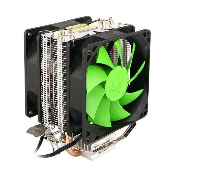 Kirin CPU radiator CPU fan dual fan pure aluminum dual heat pipe CPU general fan accessories wholesale
