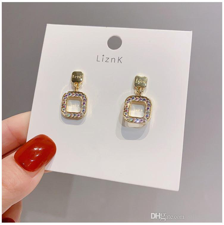 2020 New Wholesale Earing Western Fashion Jewelry Brand Luxury Design Silver Square Stud Earrings For Women Crystal Earings From Silverlining 4 98 Dhgate Com