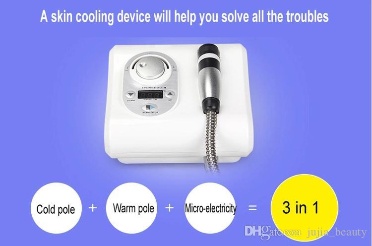 3 in 1 Kore Cryo Fonksiyonlu Yüksek Frekans Yüz Makine RF No İğne Elektroporasyon Micocurrent Yüz Germe Cilt Bakımı Makinesi Soğutma