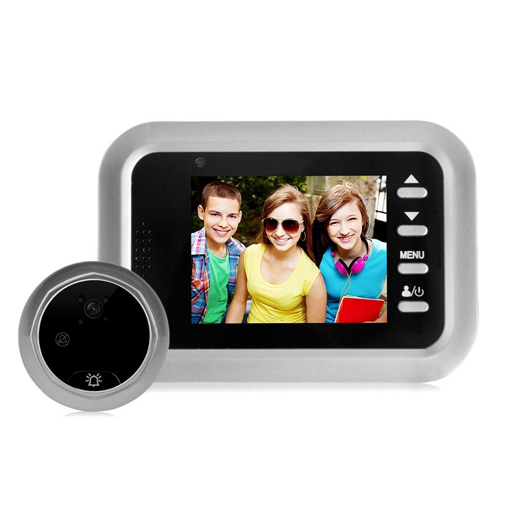 W8-S 2.4 بوصة شاشة 2.0MP كاميرا الأمن لا الإزعاج ثقب الباب عارض، ودعم بطاقة TF