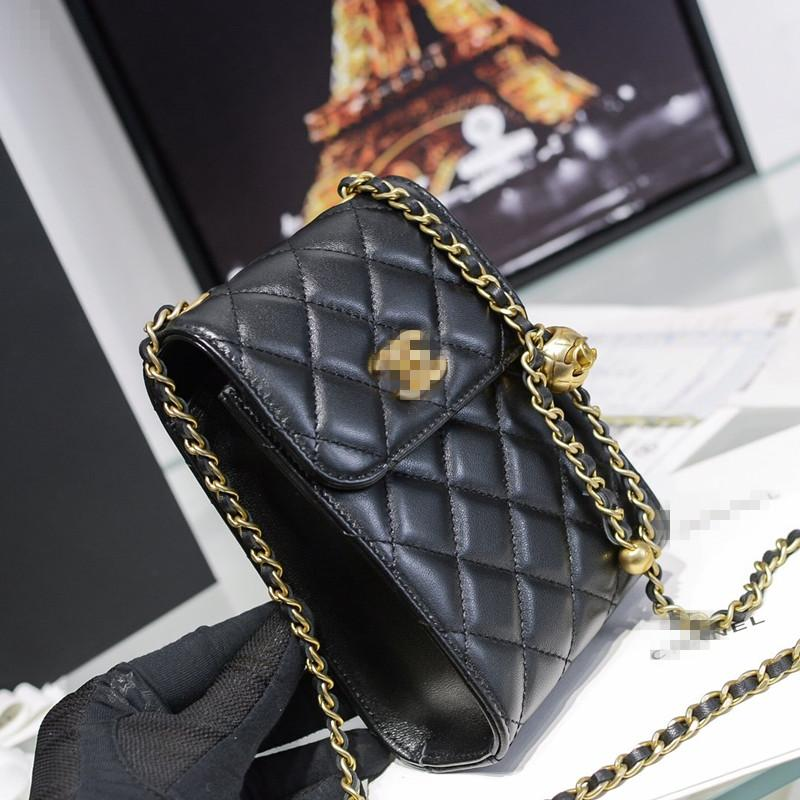 DHL Free Shipping New Fashion Casual Shoulder Crossbody Bag Solid Color Clutch Wallet Leather Hardware Evening Bag11x18x5CM04
