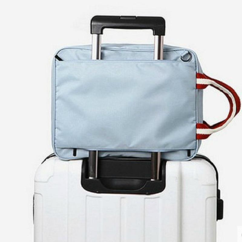 Bolsas de viaje de los hombres plegables pequeña bolsa de viaje de fin de semana Maleta Hombres Embalaje Cubos de asas del equipaje Organizador del hombro bolsa de intercalación