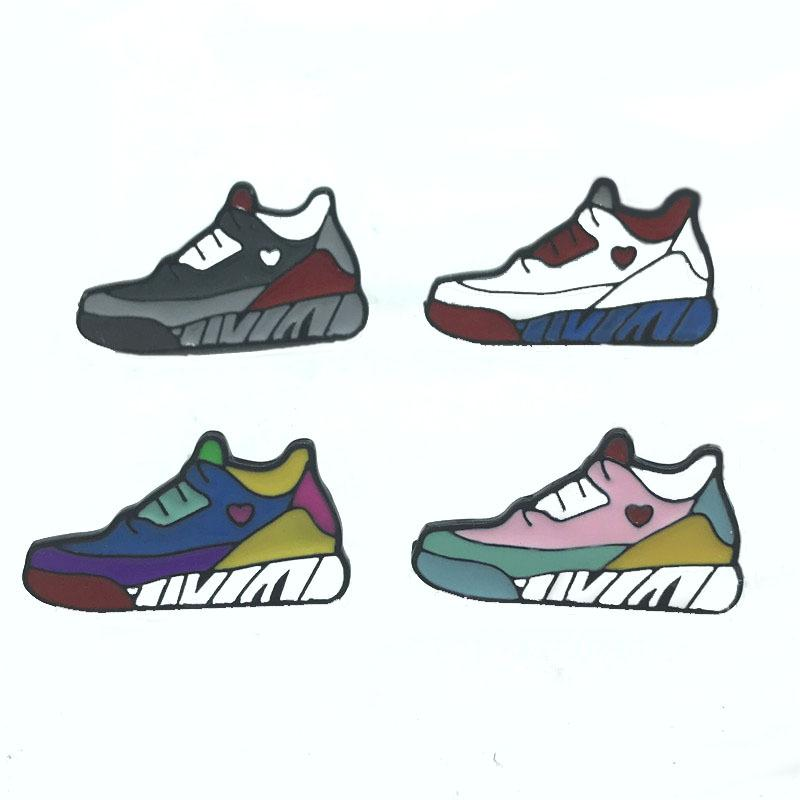 Europe and the United States popular new creative color love sports shoes fashion badge sunshine temperament brooch jacket accessories