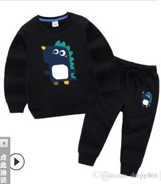 New 2020 baby girls boys cute 2 pcs set Kids suit cotton Children's tracksuit sport set long sleeve sweatshirts hoody retail free shipping