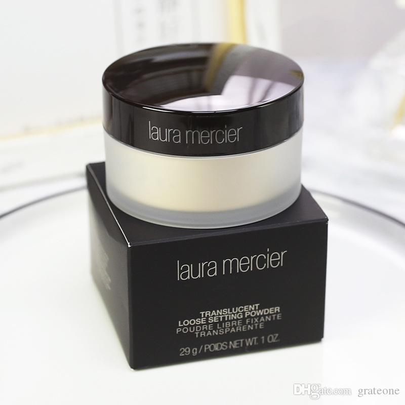 Dropshipping Novo pacote na caixa negra Laura Mercier Fundação solto Fix Ajuste Pó Pó Min Pore Brighten Concealer