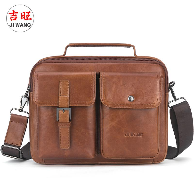 Men's Hand bags Designers Cowhide Leather Male Messenger Bags Casual Business Vintage Crossbody Bag For Man Tote Handbag