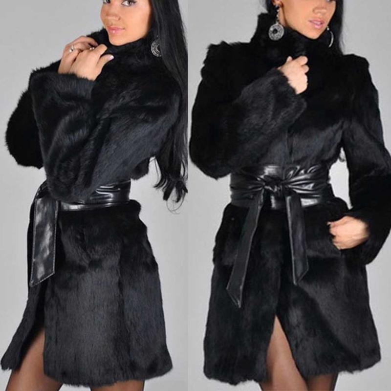 manteau femme hiver 2020 зимнее пальто женщины плюс размер твердые с длинным рукавом мех шеи карманы на молнии искусственный мех пальто куртка fourrure