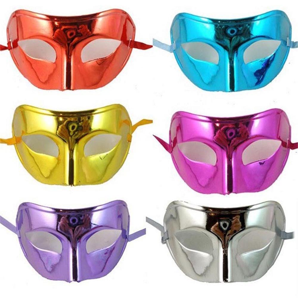 Soğuk ve düz kafaları ve parlak cardin top defile parti maskeleri ile renkli erkekler Half Men MJ016 İçin Maske