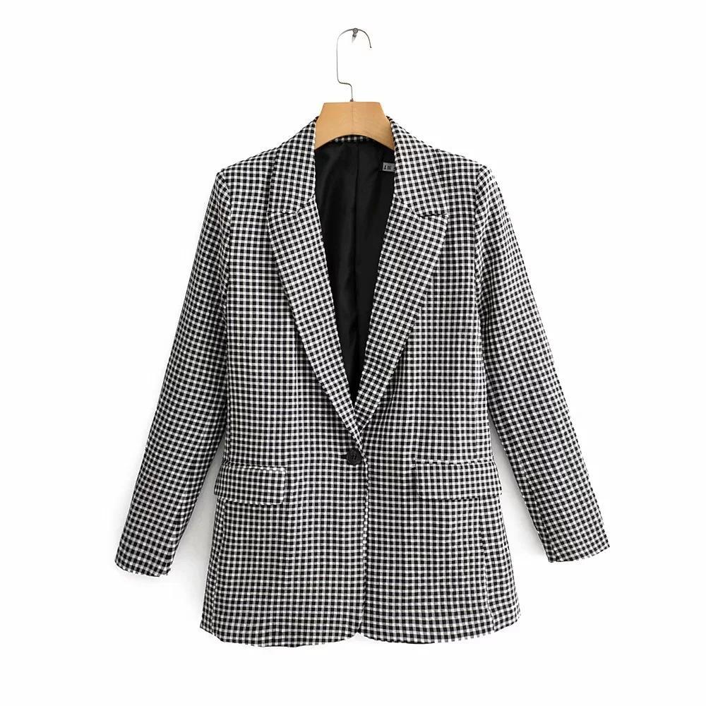 Nj-9080 ЖЕНСКОГО платье Новых продуктов плед костюм куртка