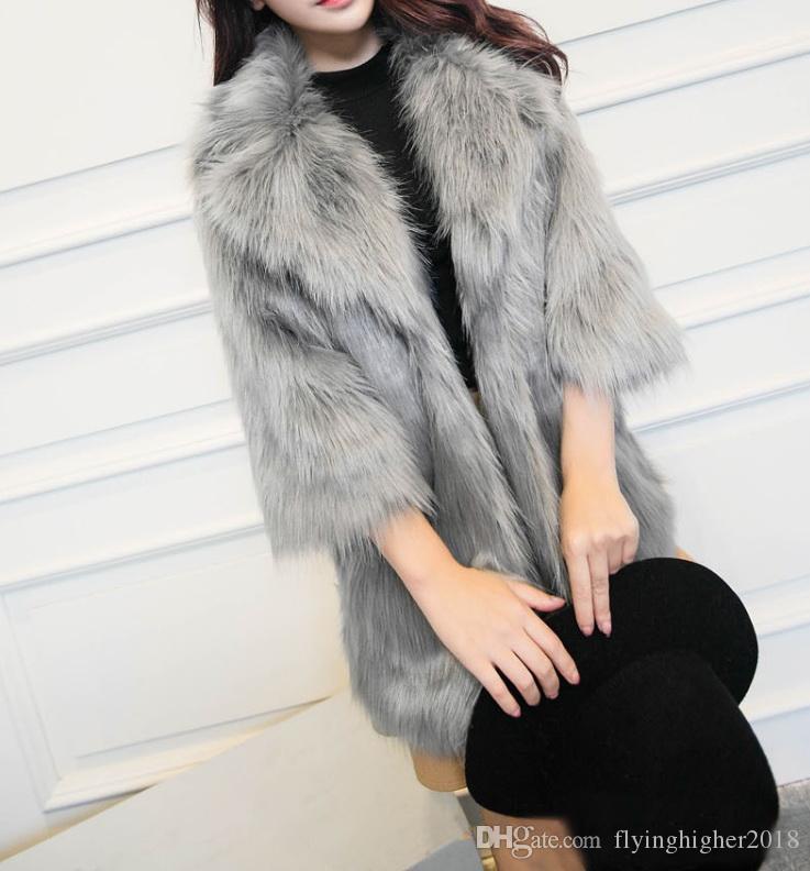 Женщины Пушистые длинные меховые пальто куртки с поясом Элегантный Winter Fur Пояса Поддельный Верхняя одежда для женщин Мягкий волосатая Шинели
