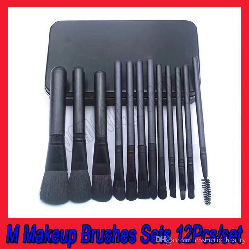 .أدوات ماكياج جديدة M العلامة التجارية 12 Pcs فرش ماكياج Set Kit Travel Beauty Foundation Professional Lips eyeshadow Cosmetics Makeup