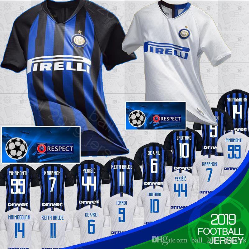 huge discount f8597 b080a 2019 Thailand ICARDI Inter Milan 2019 Soccer Jersey PERISIC NAINGGOLAN  POLITANO Champion League Jersey 18 19 Football Kit Shirt From ...