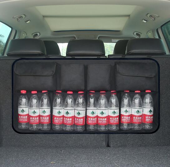 UK Back Seat Storage Bag Universal Auto Car Organizer Trunk Rear Mesh Net Pocket