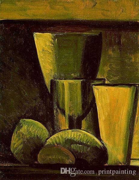 Pablo Picasso Pintura al óleo clásica Naturaleza muerta Cubismo 100% hecho a mano por el pintor experimentado lienzo en blanco Picasso748