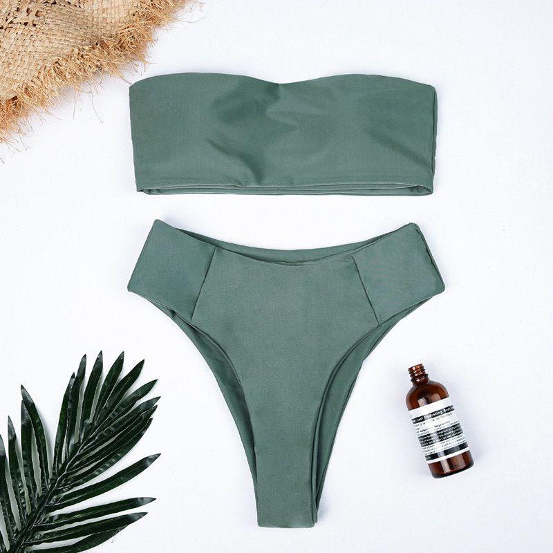 2019022715 Yüksek Bel Bikini Seti Seksi Saç bandı Mayo Kadınlar Yılan Baskı Mayo Kadınlar Yaz Mayo Brezilya Bikini