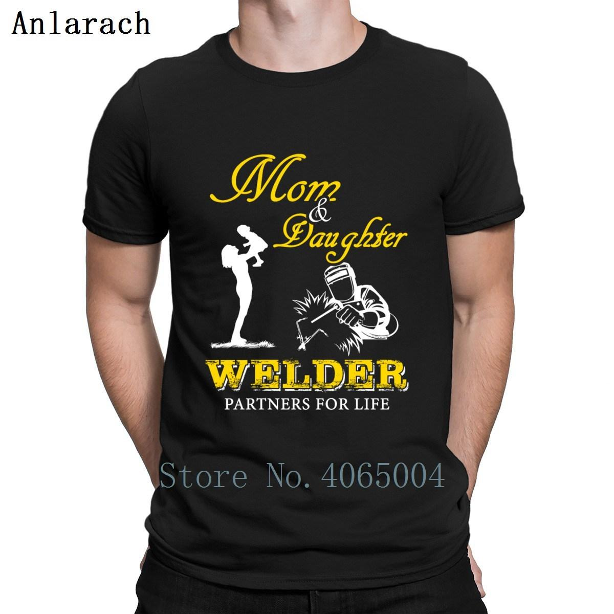 Welder Mom Daughter Welder Partners For Life T Shirt Cotton Breathable Round Neck Character Gift Summer Style Family Shirt