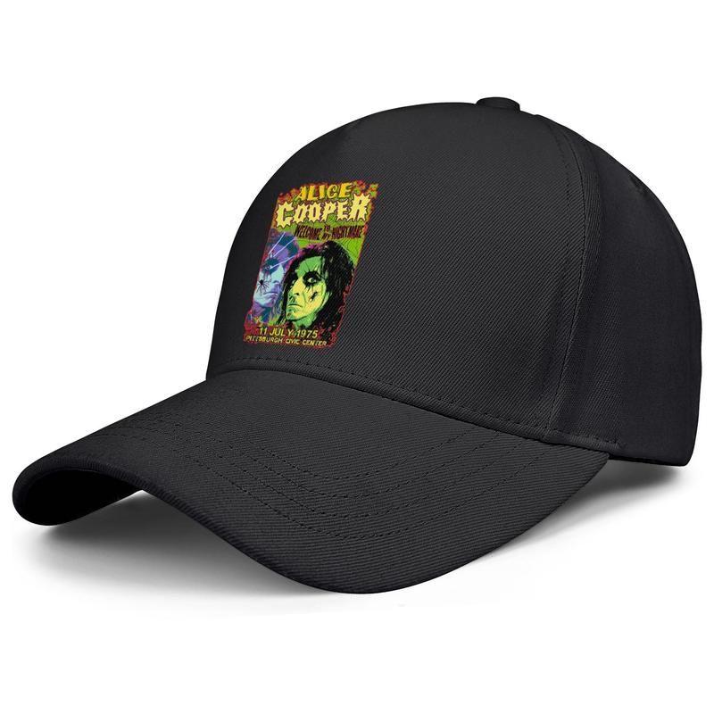 Alice Cooper bem-vindo ao meu pesadelo dos homens e mulheres negros boné de beisebol Cool Designer esportes personalizados do vintage costume elegantes chapéus originais
