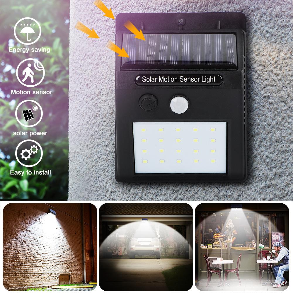 30 LED Solar Lights Outdoor Wireless Waterproof Motion Sensor Outdoor Security Lights for Front Door, Yard, Garage, Deck