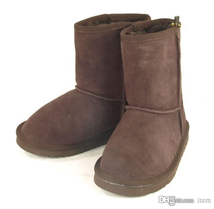 Новые Классические ботинки Зимние непромокаемые детские теплые зимние ботинки Девочки мальчики детские снежные ботинки Австралия сапоги
