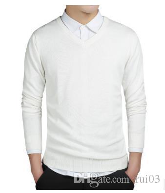 2017 brand clothing New spring maglione uomo harmont scollo av manica lunga solido pull homme ricamo pullover uomo maglioni S0050 S1015
