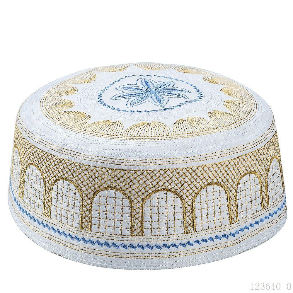 Klassische Qualität gestickter Muslim Muslim Männlich Hat Muslim Worship Hat Saudi Arabian Emirates Hut Qualitäts-Weihnachten freies Geschenk Verschiffen