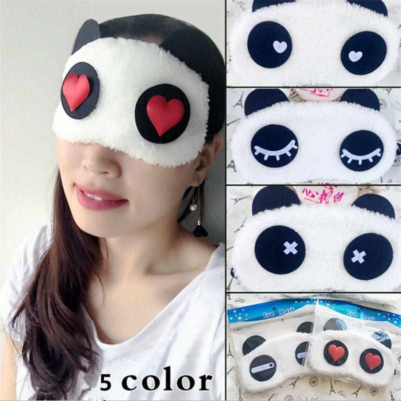 Karikatür Yüz Panda Göz Maskesi siperliği Gölgelendirme Uyku Pamuk Gözlükler Kapak Bakımı Doğum Parti Süslemeleri Çocuk Yetişkin Maskesi Hediye-S