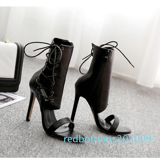 merletto di modo 11 centimetri sul lato plateau pompe donne progettista pattini tallone caviglia bootie R09