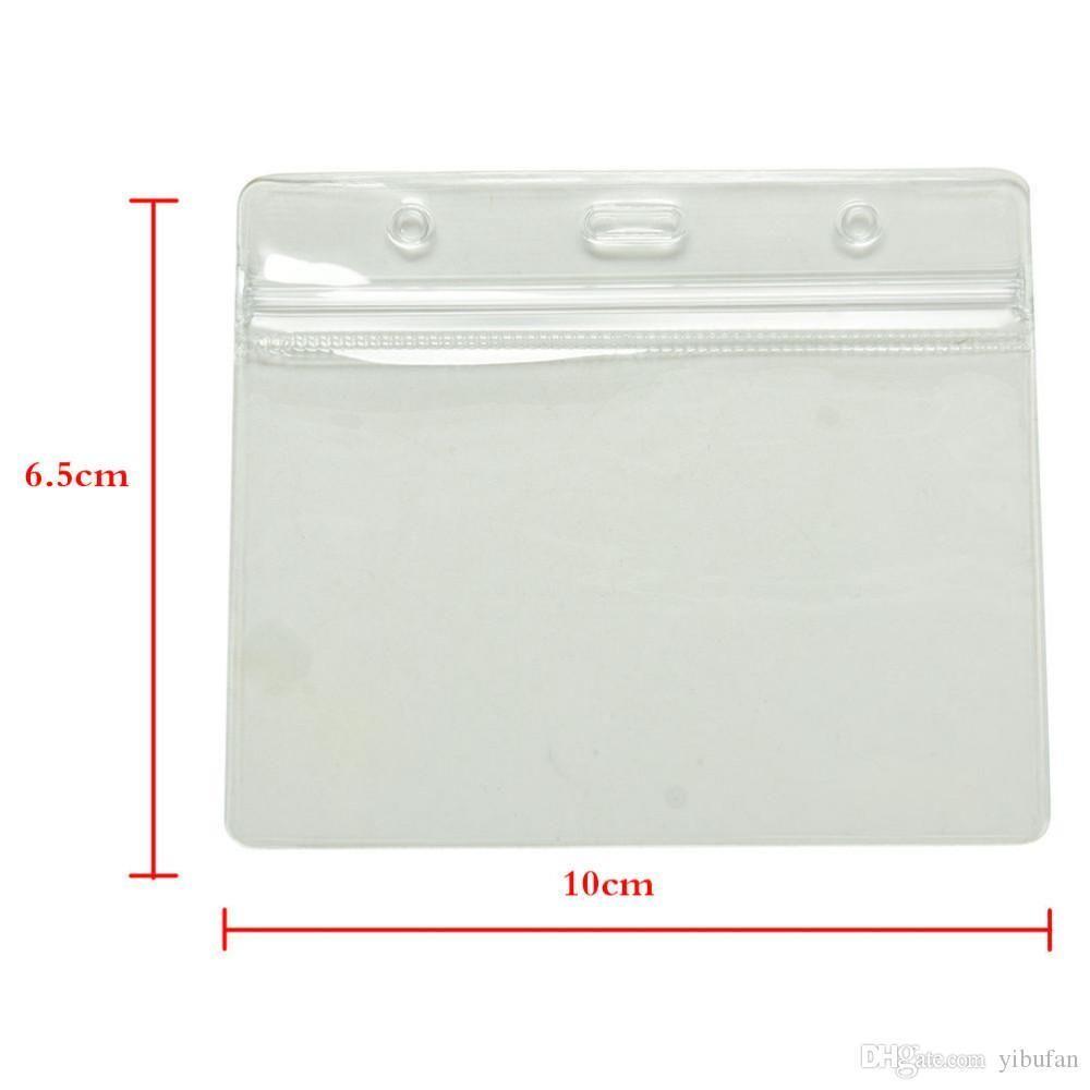 Impermeable tarjeta de identificación banda tarjetas titulares bolsas de almacenamiento mangas transparentes protectores plástico suave blindado 60 piezas lote