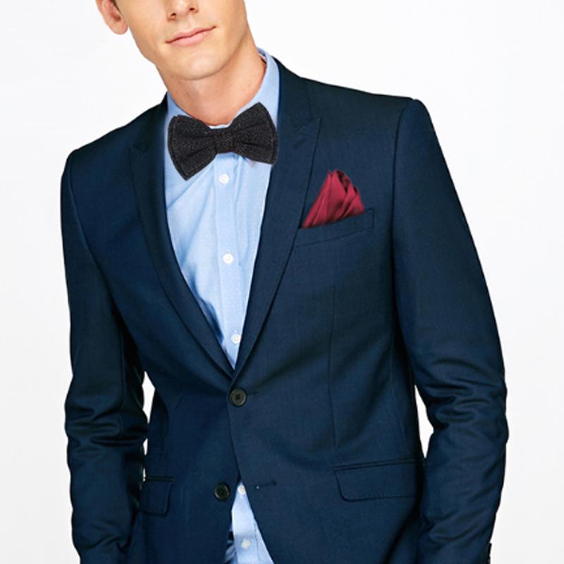 Männer glänzendes Silber Schwarz Bowtie Schmetterlings-Knoten-Jungen Smoking Accessoires Luxuriöse formalen Handels Anzug Trauung Krawatten