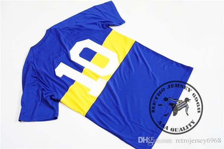 Free shipping BOCA JUNIORS Retro jersey 1981 Home #10 MARADONA