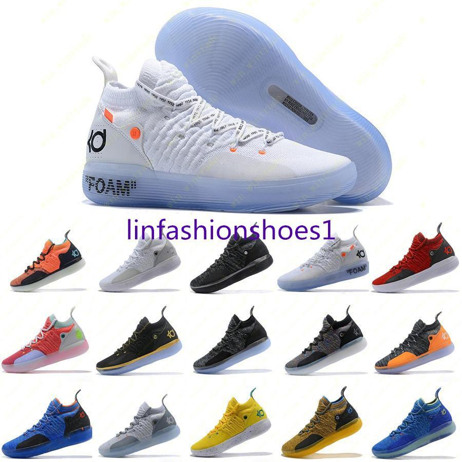 Mens Trainers New KD 11 EP White Orange Foam Pink Parany Oreo ICE Weekball Shoes Original Kevin Durant XI KD11 Sneakers Size 7-12
