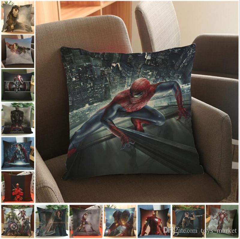 New Batman Pillow Justice League Iron Man pillow Case, Cushions Pillowcase Cushion without filling Decorative Pillow