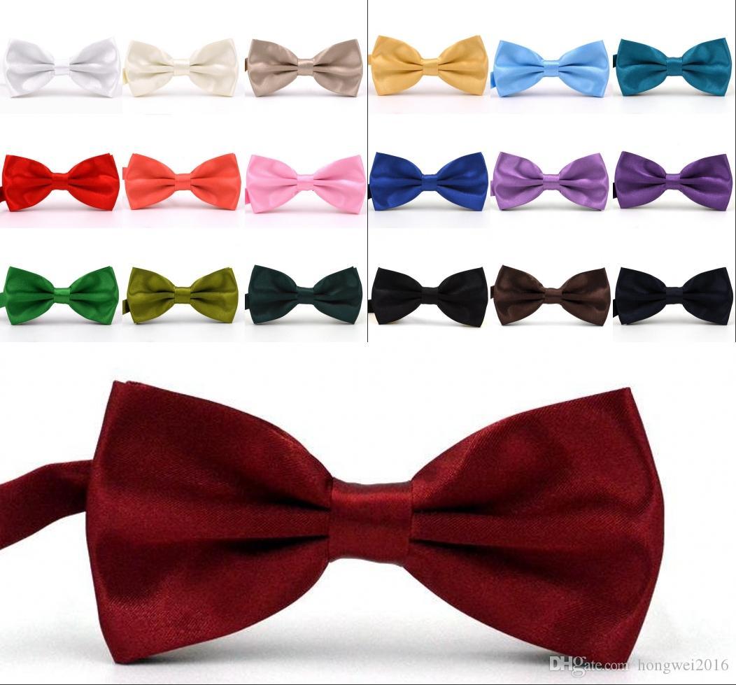 البوق الألوان الصلبة بابيون لحفلات الزفاف أزياء الرجل والمرأة رابطات عنق رجل القوس العلاقات أوقات الفراغ برقبة بووتيس الكبار الزفاف القوس التعادل