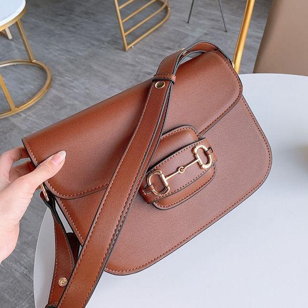 New Luxury Retro Saddle Borsa inserto Fibbia In Vera Pelle Designer Bag Shoulder Messenger Bag Flap Crossbody Bag 26 cm Borsa A Tracolla