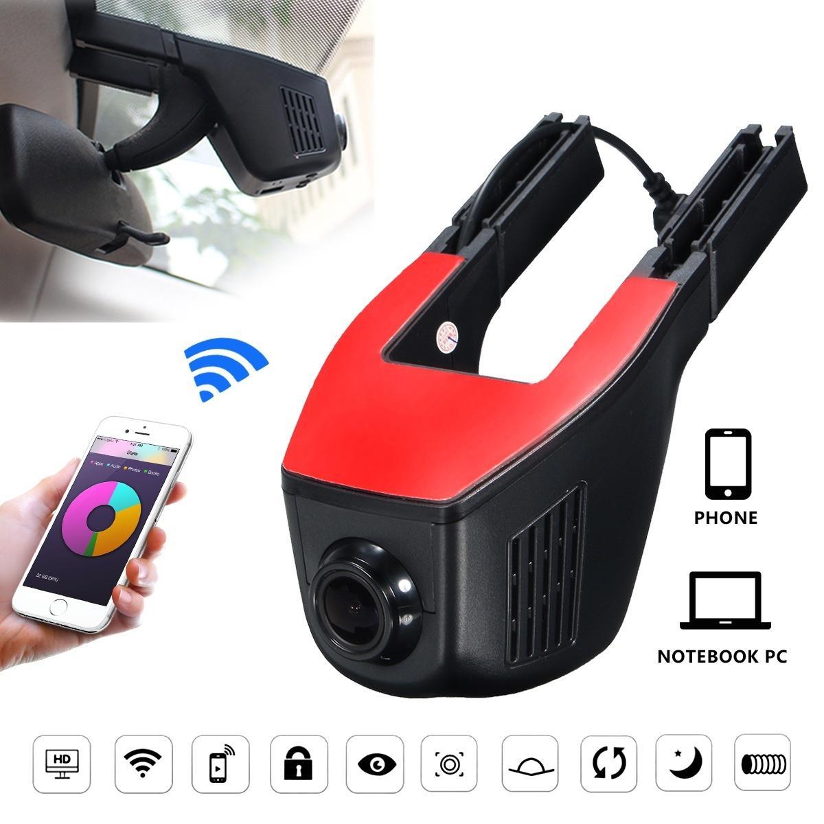 20Pcs/Lot 1080P WiFi 170 Hidden Car DVR Dash Camera Video Recorder G-Sensor Hobbies