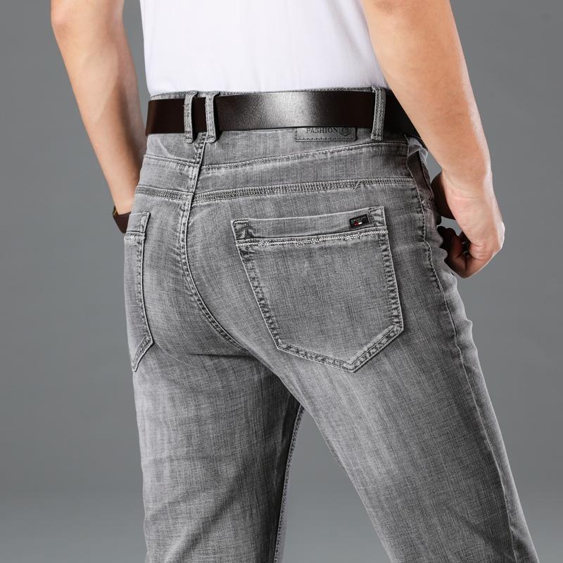 2020 hombres de los pantalones vaqueros rectos nostalgia retro Denim Jeans Hombres Hombres largas de la moda pantalones delgados de tendencias comerciales pantalones ocasionales de la ropa