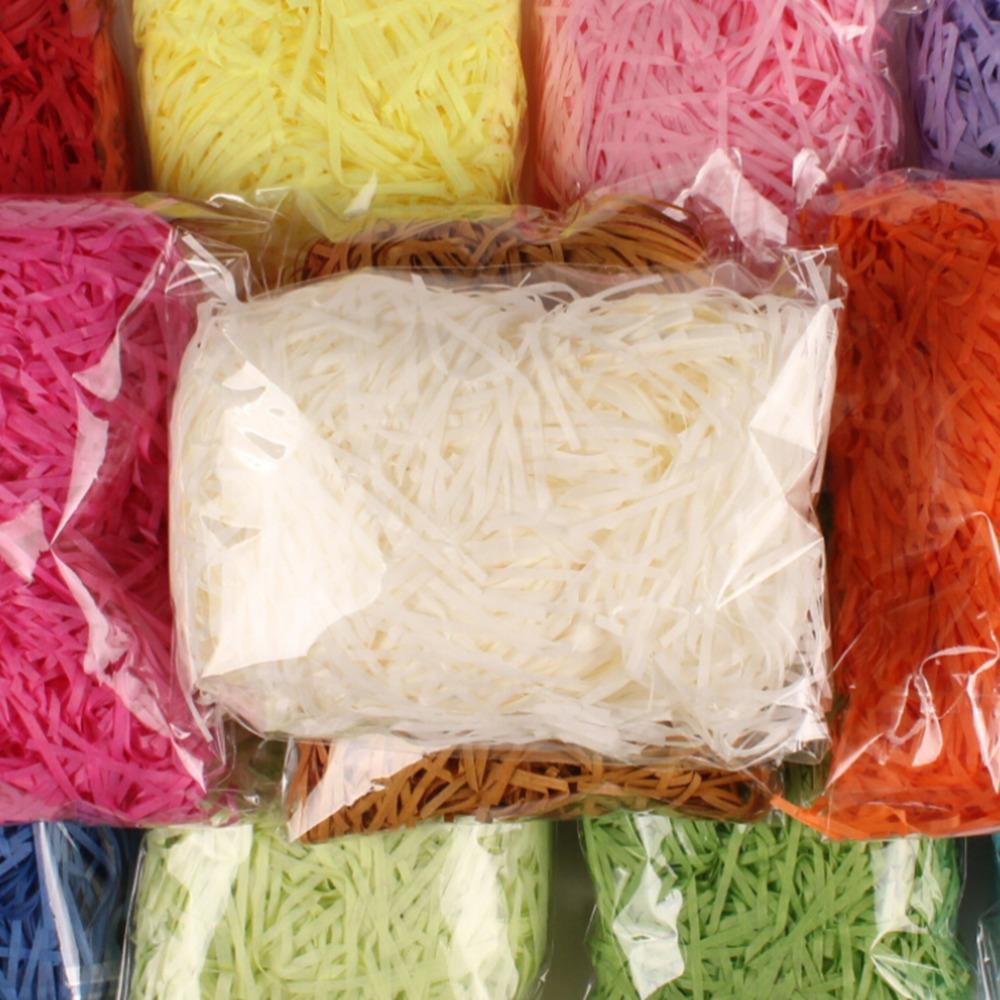 20g / pack 20g Raffia Jute Wedding Party Regalo Embalaje Material de dulces Suministros de relleno de caja