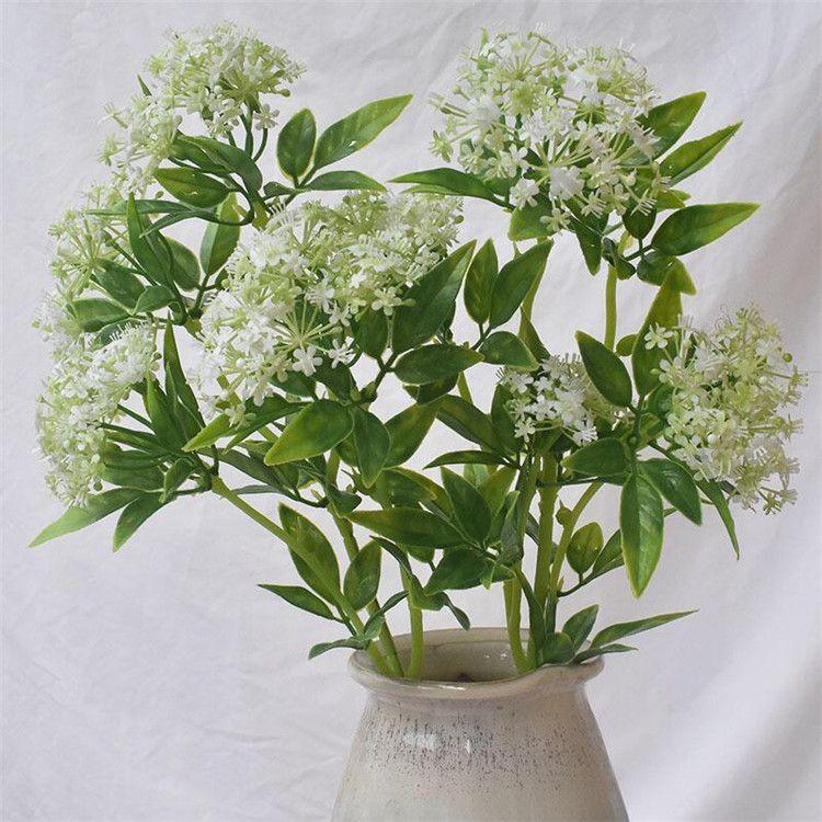 """Falso singolo stelo Spiraea (4 gambi / pezzo) 22.83"""" Lunghezza simulazione Hydrangea a casa di cerimonia nuziale decorativo fiori artificiali"""