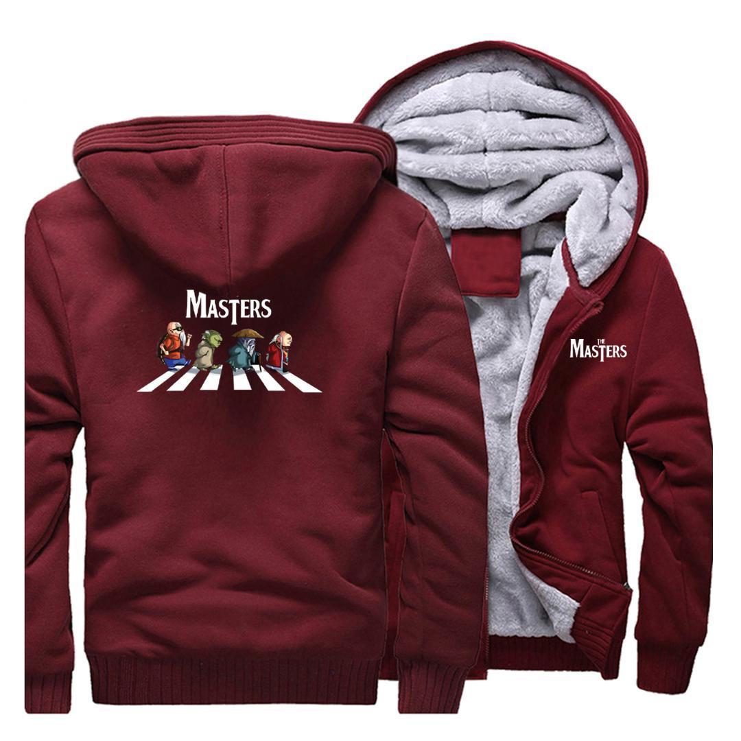 Kötüler Erkekler rüzgar geçirmez Kazak Hoodie adam kış moda ceket sokak serin hoodies tişörtü Of Universe Takımı Masters Of