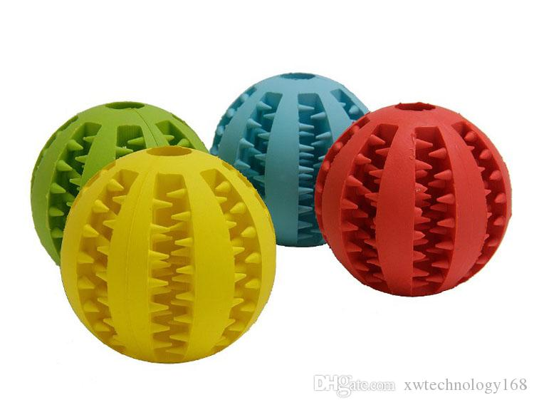 Dog Ball Toy Silicone Bite Ball Clean Teeth and Promotes Dog Pet Treat Dispensing Toy Puzzle Toys Small Large Size