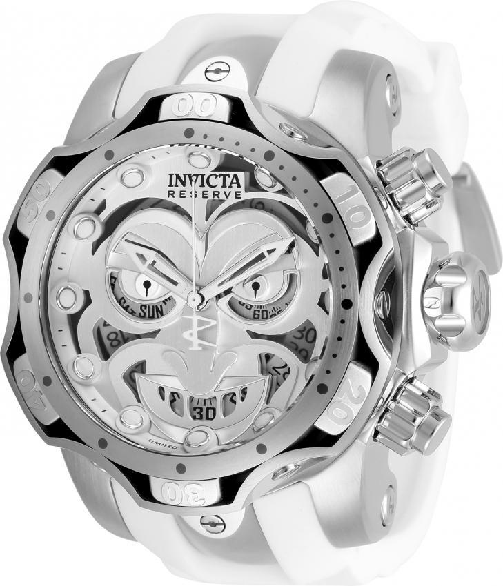 Los hombres de Invicta reloj de DC Comics Joker 52,5 mm de acero inoxidable de aluminio del silicón Modelo 30124 26790 cuarzo suizo Para dorpshipping