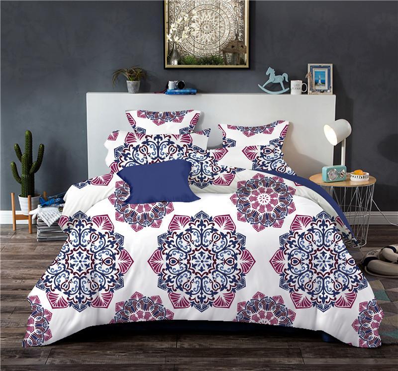 Conjuntos de ropa de cama de Bohemia 2/3 unids Doble Doble Juego de funda Nórdica tamaño Queen King Ropa de cama Ropa de cama (Sin hojas, sin relleno)
