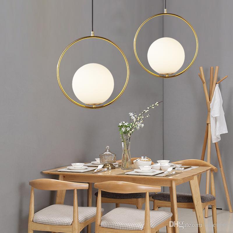 جولة غلوب قلادة الأنوار بار مطعم تركيبات مطابخ زجاج الكرة قلادة مصابيح هانغ مصباح الإنارة lamparas AVIZE تركيبات