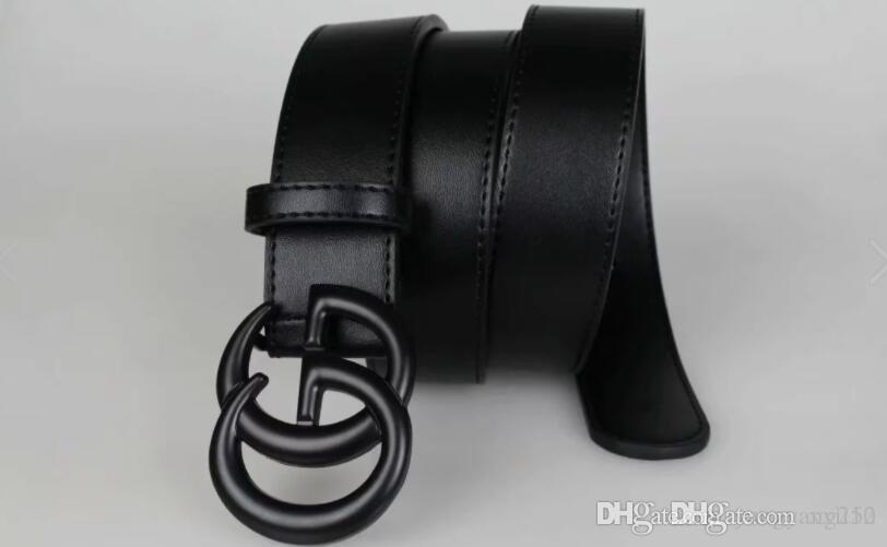 Hohe Qualität Herren-Leder-H Gürtel Glatte Buckle Gürtel Woem Litchi Grain-Ledergürtel mit lässigem Jeans Weinlese-Frauen-Gurt mit