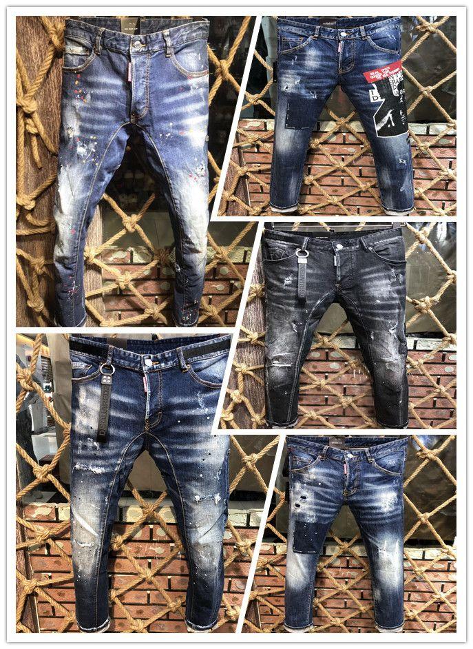En 2019, la nueva marca de moda europea y americana de verano y otoño vaqueros para hombre para pantalones casuales para hombre A217