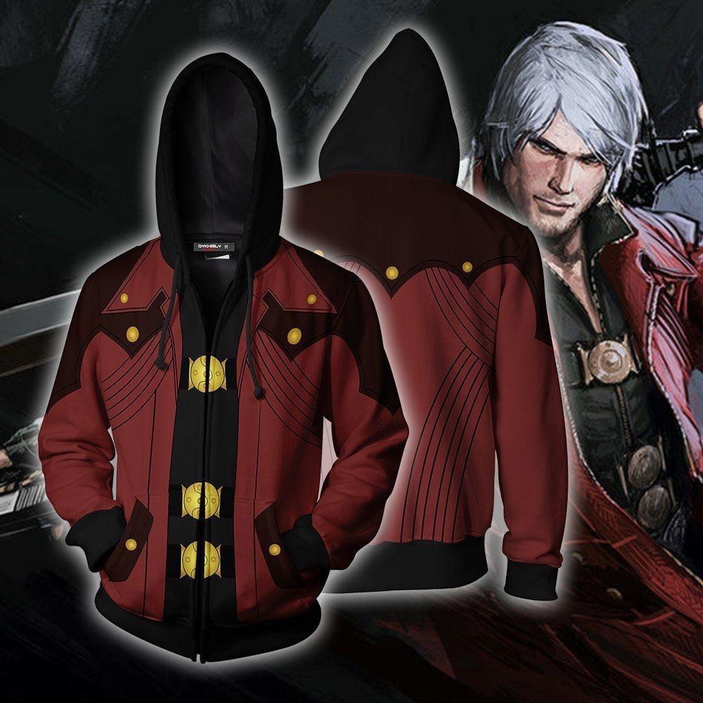 Devil May Cry 3 пальто балахон 3D печати балахон свитер пальто косплей анимация игра периферийного